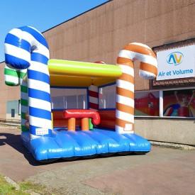 Candy Cane Bouncy Castle
