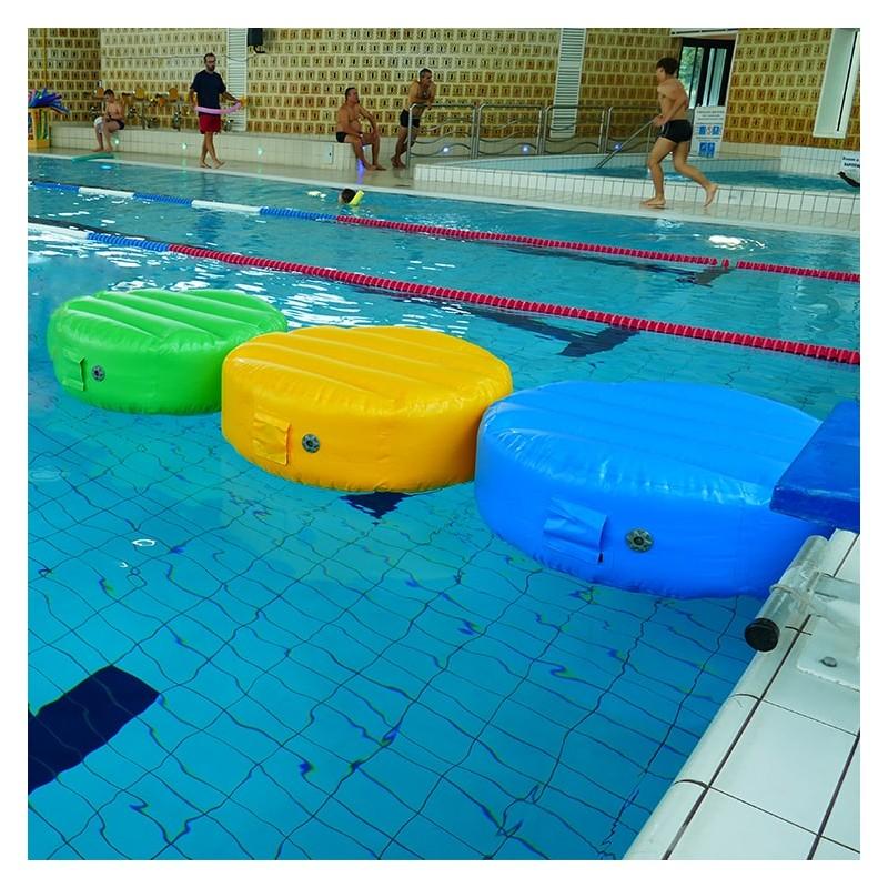 Jeu Gonflable Aquatique pour piscine : Chaîne de 3 Disques