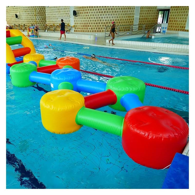 Jeu Gonflable Aquatique pour piscine : Double Molécule