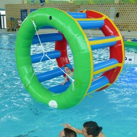 Jeu Gonflable Aquatique pour piscine : Cage Ecureuil Colorée