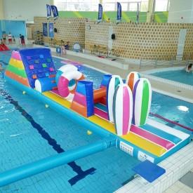 Structure Gonflable Aquatique pour piscine : Parcours Couleurs PM