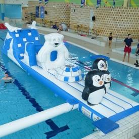 Structure Gonflable Aquatique pour piscine : Parcours Pole Nord