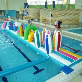 Structure Gonflable Aquatique pour piscine : Parcours Couleurs GM