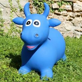 Vache Gonflable Bleue - Animal Rebondissant